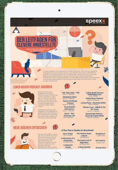 Leitfaden für clevere Angestellte im Ipad dargestellt