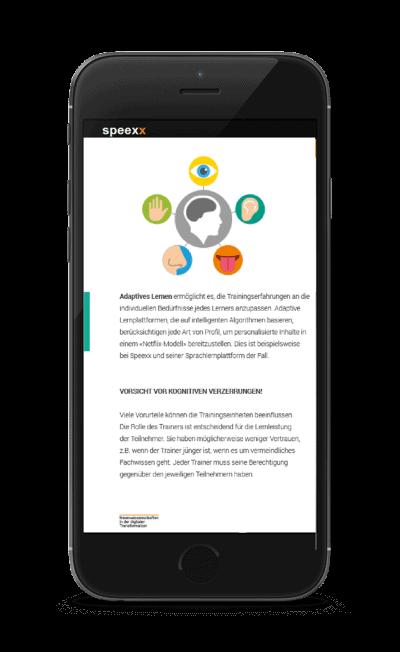 Neurowissenschaften in der Digitalen Transformation in Smartphone