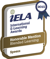 International E-Learning Association Award 2015