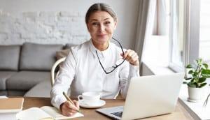 professional woman writing