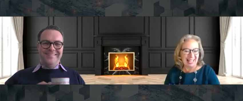 virtual fireside chat at Speexx Exchange 2020