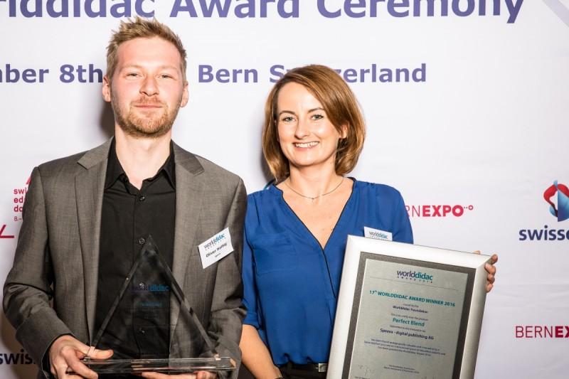 Speexx Worlddidac Award