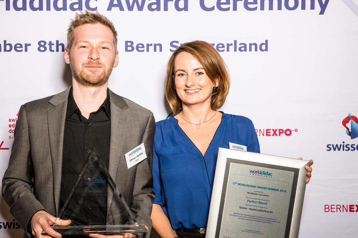 Speexx Worlddidac Award