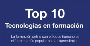 infografía top 10 tecnologías formación