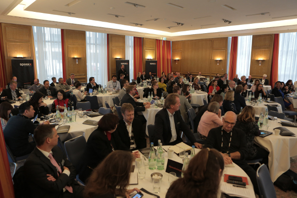 Crowded room at Speexx Exchange, Berlin 2016