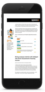 Whitepaper on Business Impact of Learning displayed in a smartphone