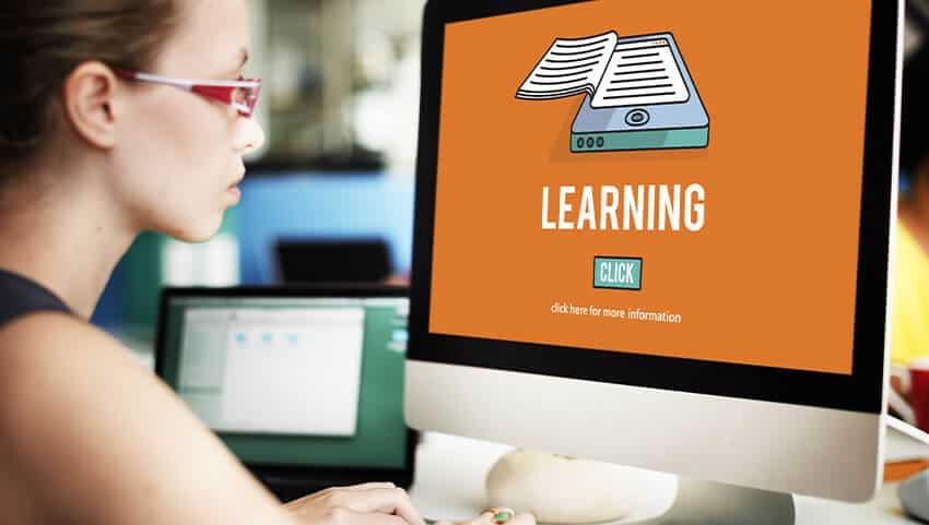employee working on digital learning plan
