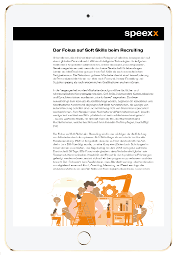 HR und Weiterbildung jenseits von Automatisierung in ipad