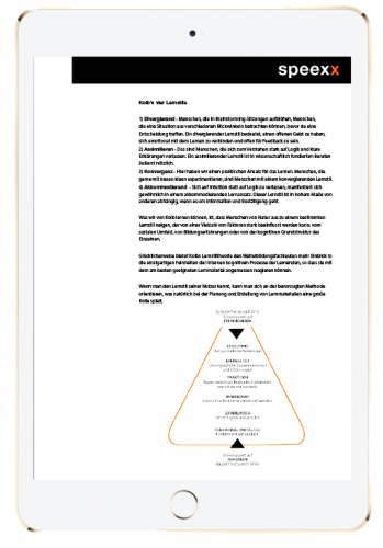 learning experience design whitepaper in ipad