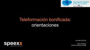 orientaciones fundae teleformacion