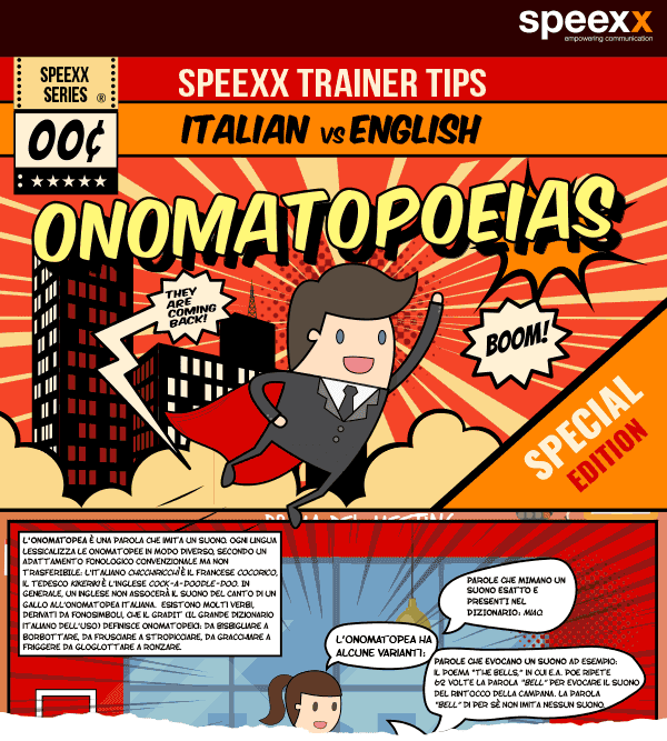 Infografica - Italian vs English onomatopoeias