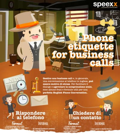 Infografica - Phone etiquette for business calls