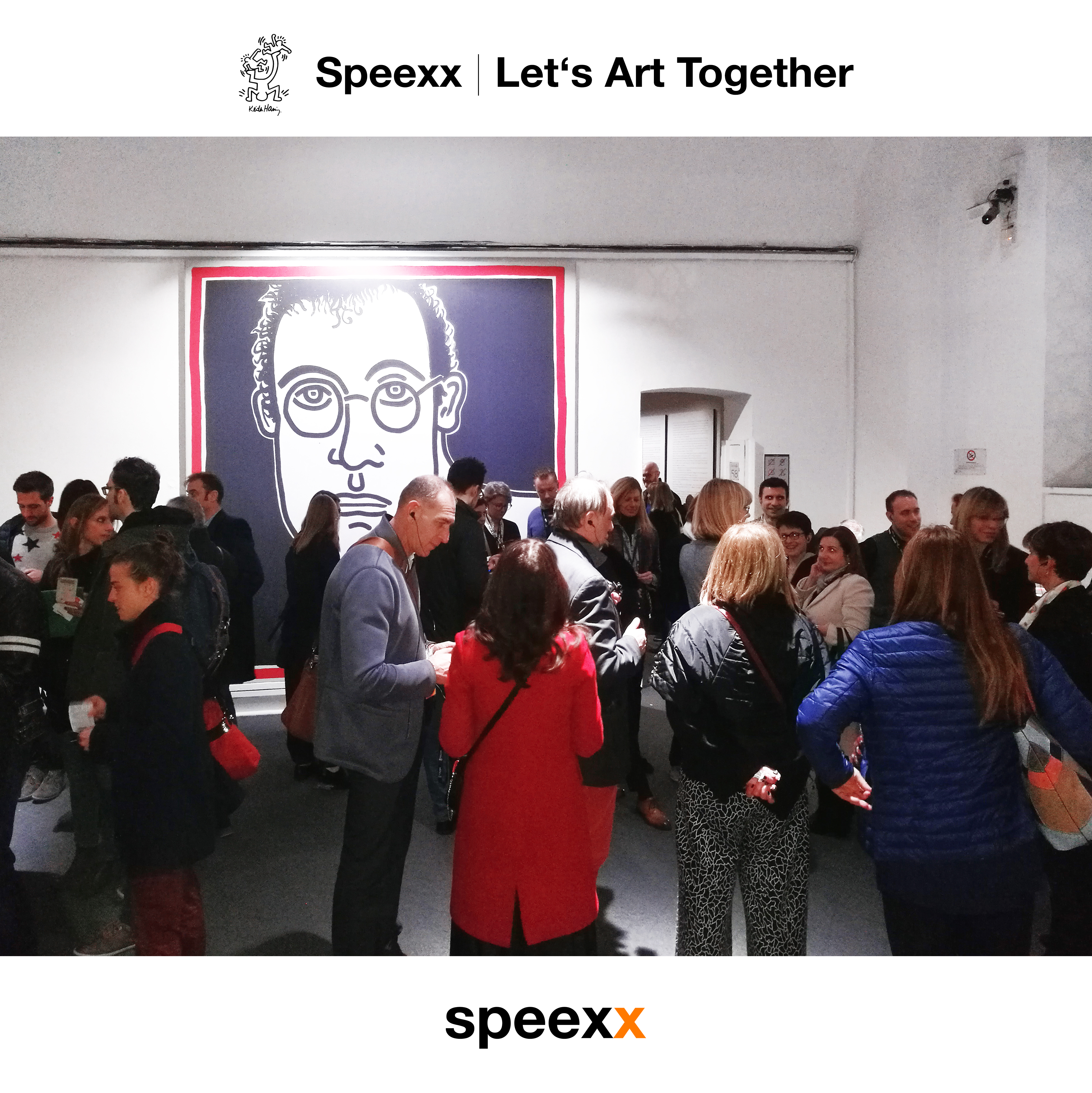 speexx let's art together -keith haring