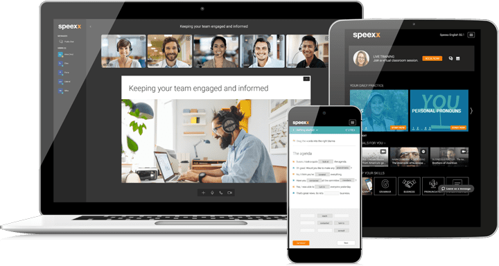 Speexx RTC is the brand-new application for unrivaled real-time communication for virtual classrooms