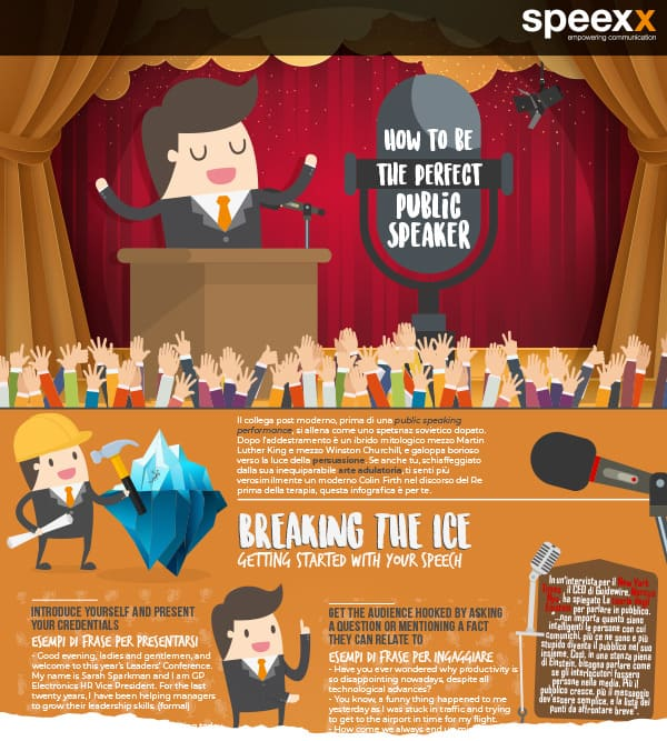 Infografica - How to be the perfect public speaker